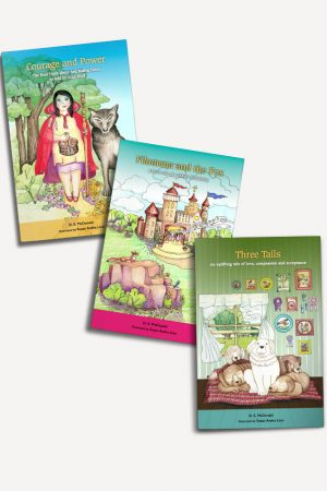 3 book set by D.E. McDonald - Courage and Power, Filomena and the Fox, Three Tails